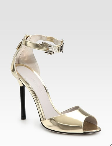 Jason Wu Metallic Patent Leather Sandals ($840)
