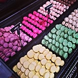 At first, we thought these macarons were just too pretty to eat, and then we thought better of it.  Source: Instagram user popsugarfashion