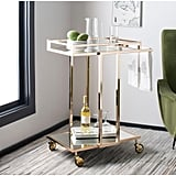 Capri 2-Tier Rectangle Bar Cart Gold