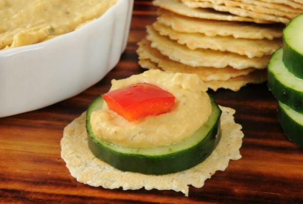 Hummus and Peanut Butter Cucumber Sammies