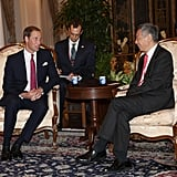 Prince William looked handsome in a suit.