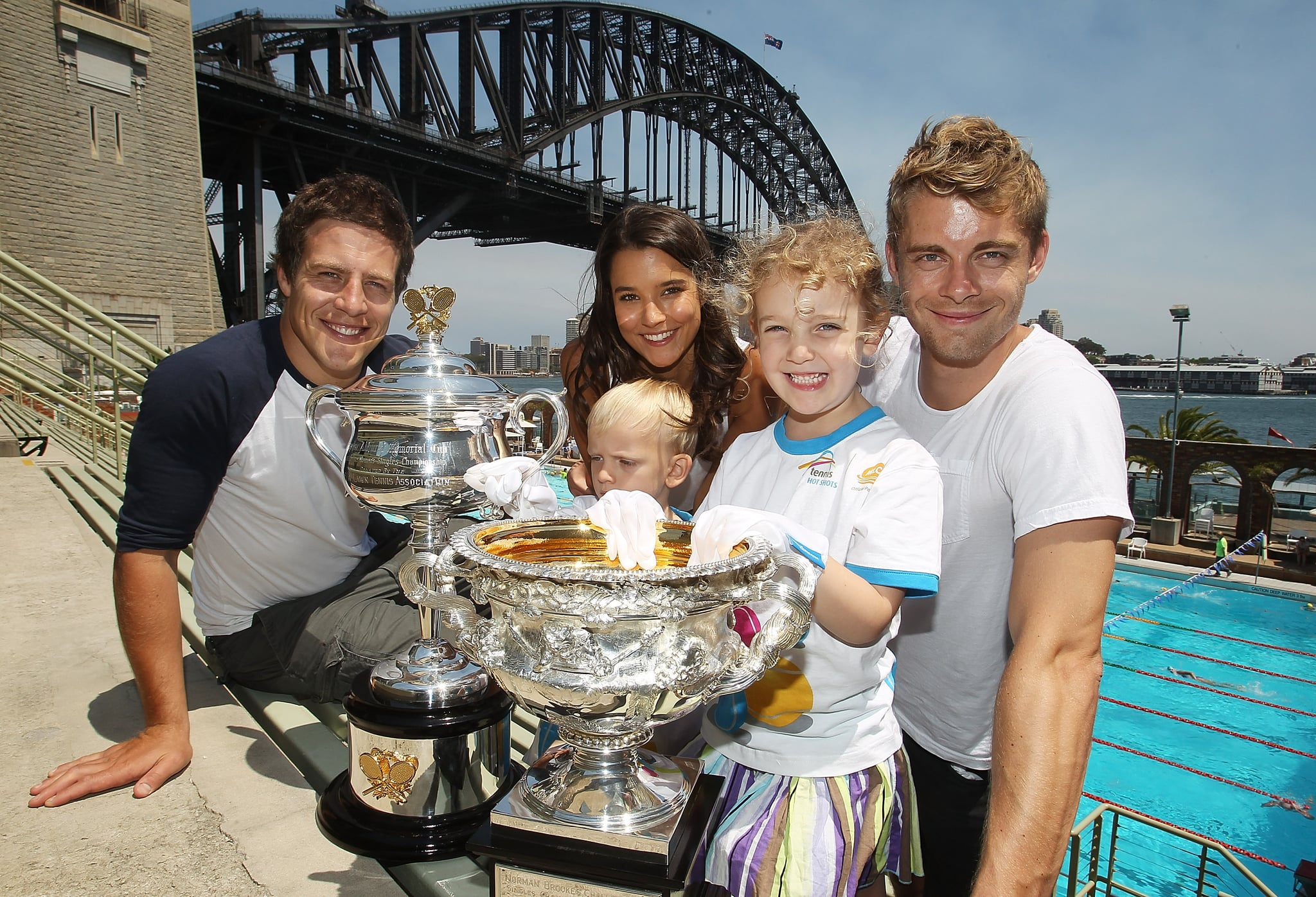 Steve Peacocke, Rhiannon Fish and Luke Mitchell