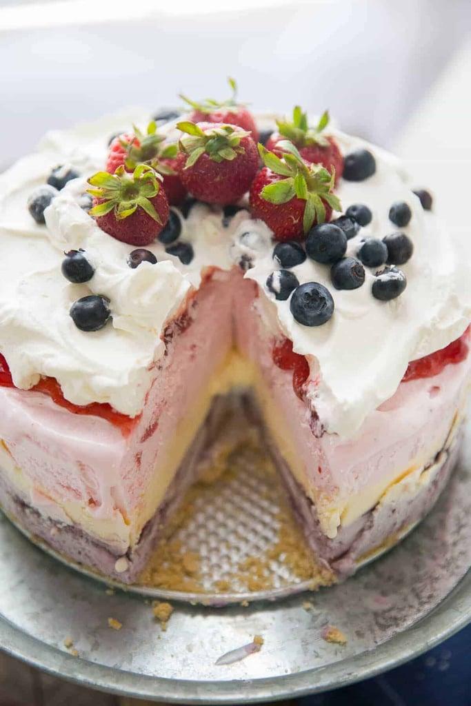 Red, White and Blue Ice Cream Cake