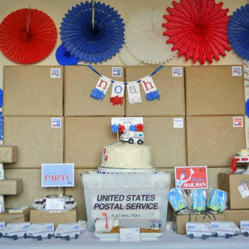 Post Office Mail Birthday Party Theme