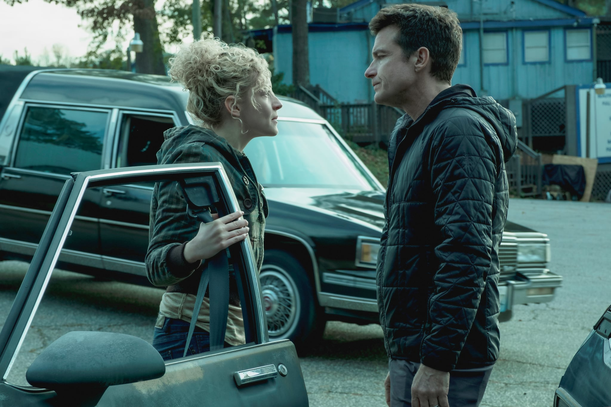 OZARK, from left: Julia Garner, Jason Bateman, 'Reparations', (Season 2, ep. 201, aired August 31, 2018). photo: Jessica Miglio/ Netflix/courtesy Everett Collection