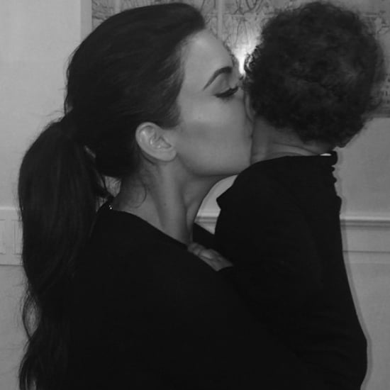 Personal Picture of Kim Kardashian Kissing Baby North West