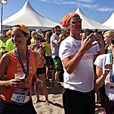 Christy Turlington was all smiles after finishing the Hood to Coast run —a 198-mile relay race! Christy took part in the race to help raise awareness for her organization, Every Mother Counts, which aims to end preventable deaths caused by pregnancy and childbirth.