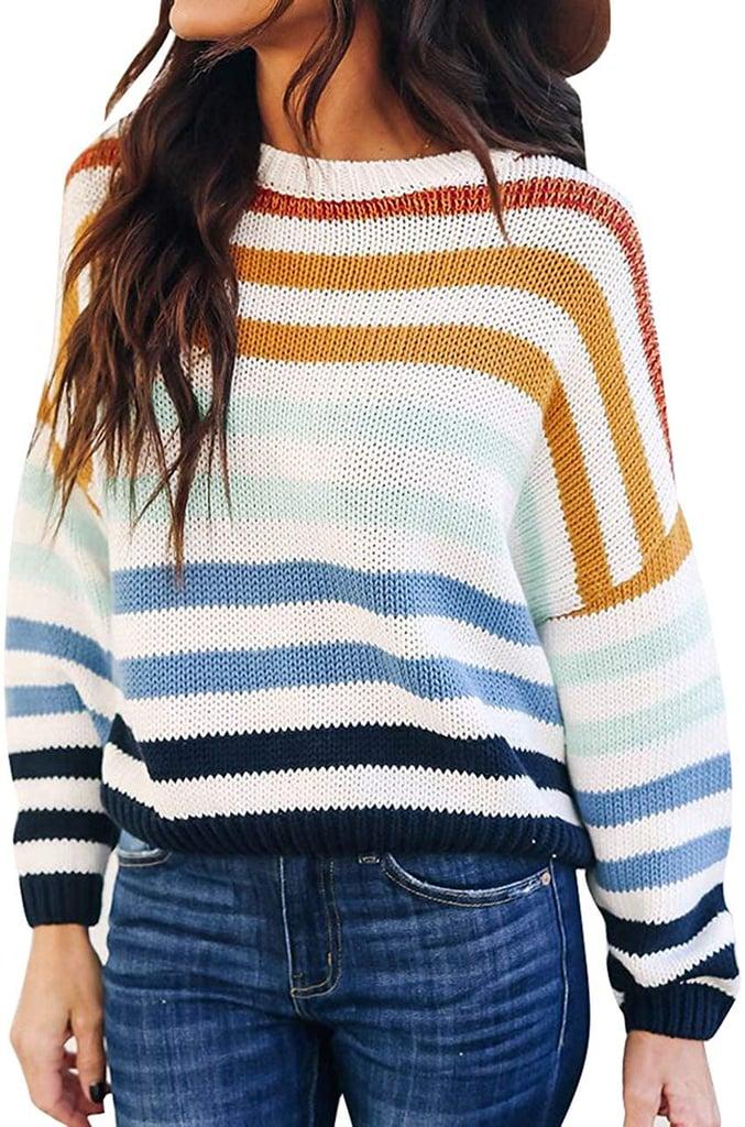 Zesica Striped Pullover Sweater