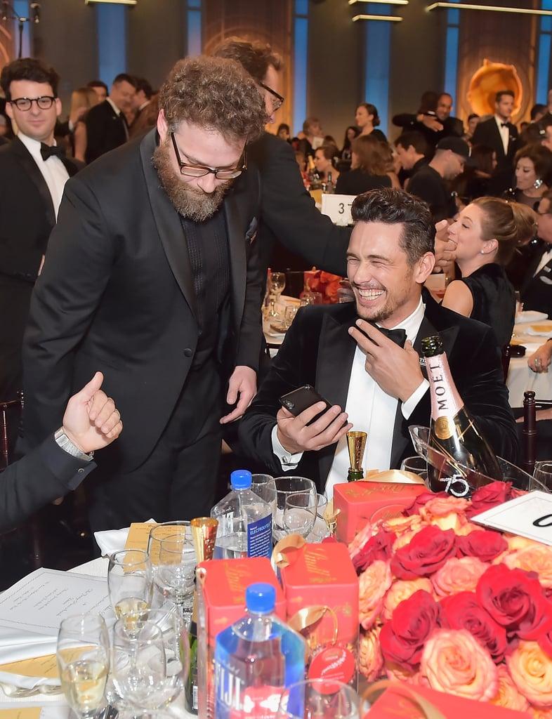 Pictured: Seth Rogen and James Franco
