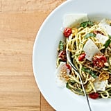Pasta With Pesto, Roasted Tomatoes, and Breadcrumbs