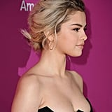 Selena Gomez's Blond Braid in November 2017