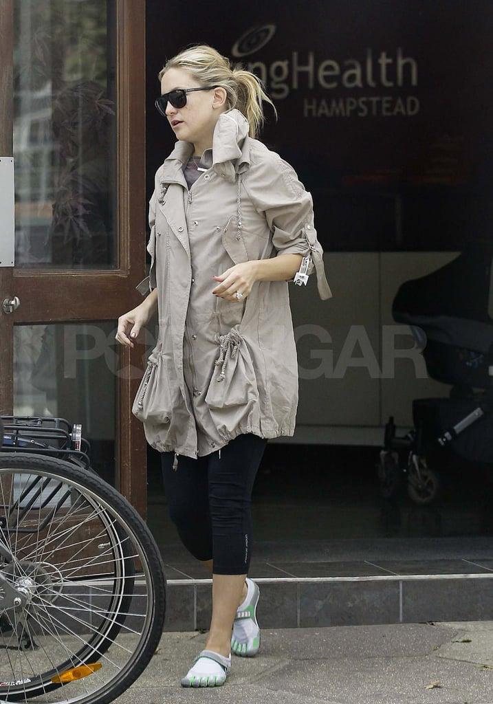 Kate Hudson wears shoe socks in London.