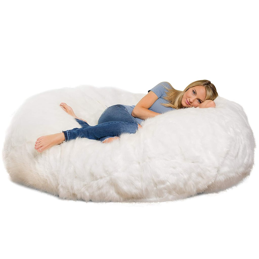 Pardon Me While I Dive Into This Giant Fuzzy Bean Bag From Amazon and Never Get Up