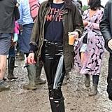 Alexa Chung at Glastonbury 2016