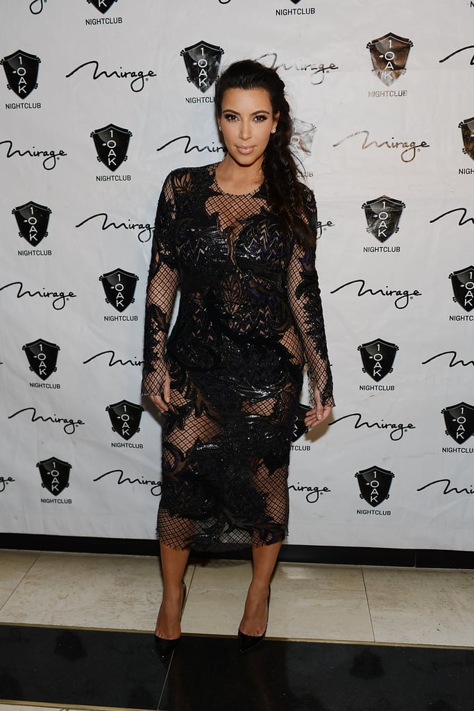 For New Year's Eve, Kim made a fresh start and declared her maternity style in a sexy Julien MacDonald design.