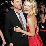 Ali Larter and Joshua Jackson shared a laugh.