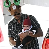 Josh Duhamel got into the Christmas spirit in LA on Wednesday with his son, Axl.