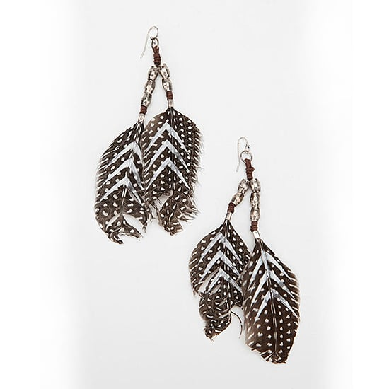 Urban Outfitters Feather Drop Earrings, $24