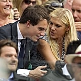 Chelsy Davy chatted with a mystery man during Wimbledon.