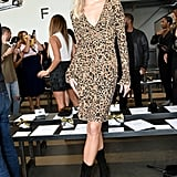 Devon Windsor at the Pamella Roland New York Fashion Week Show