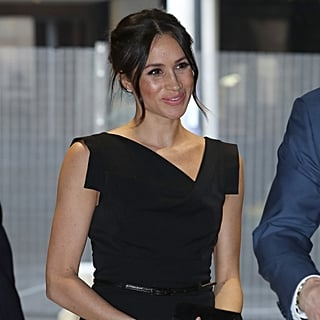 Meghan Markle Black Halo Dress