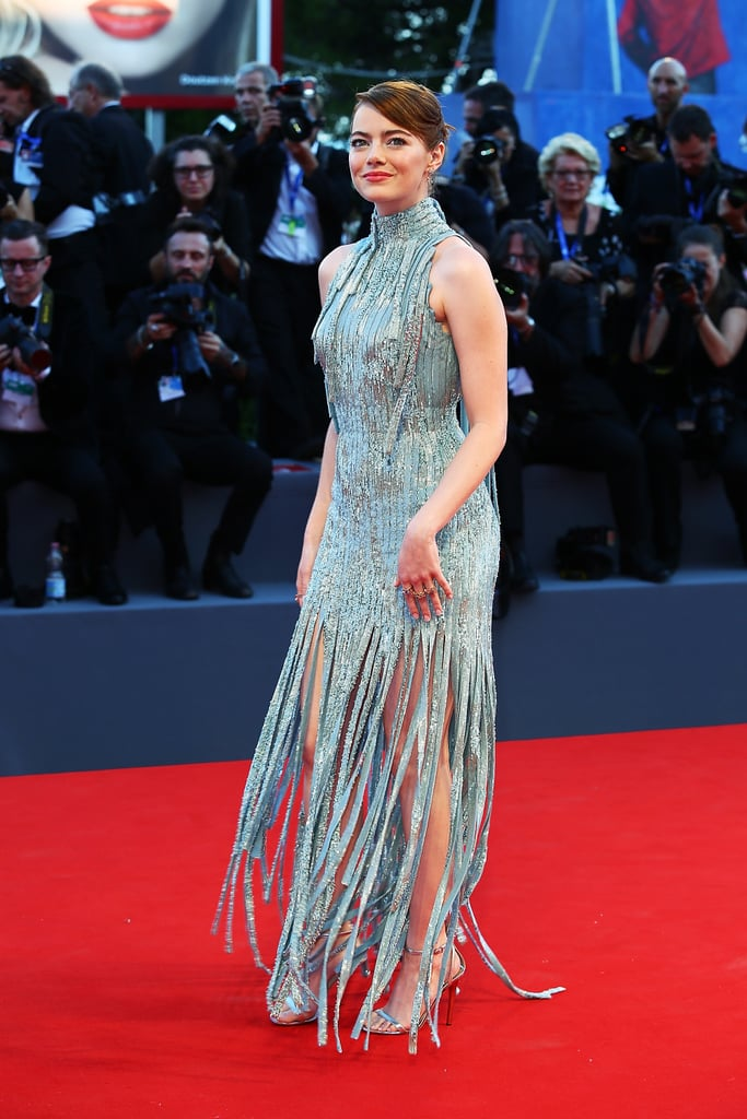 Emma Stone Versace Dress at Venice Film Festival 2016