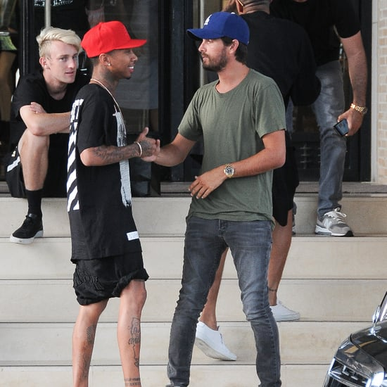 Scott Disick Runs Into Tyga While Shopping