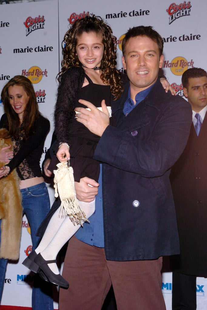 Ben Affleck gave his tiny co-star a lift at the March 2004 NYC premiere of Jersey Girl.