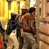 Justin Timberlake and Jessica Biel returned to their hotel after a romantic dinner while vacationing in Europe together.