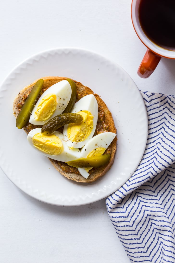 Hard Boiled Egg And Pickle Toast Make Ahead Egg Recipes