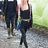 Mary Chateris at Glastonbury 2016