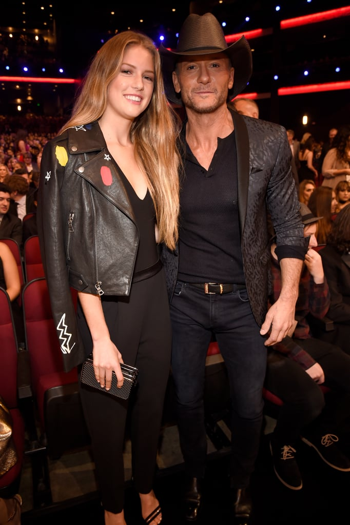 Tim McGraw and Daughter at the American Music Awards 2016