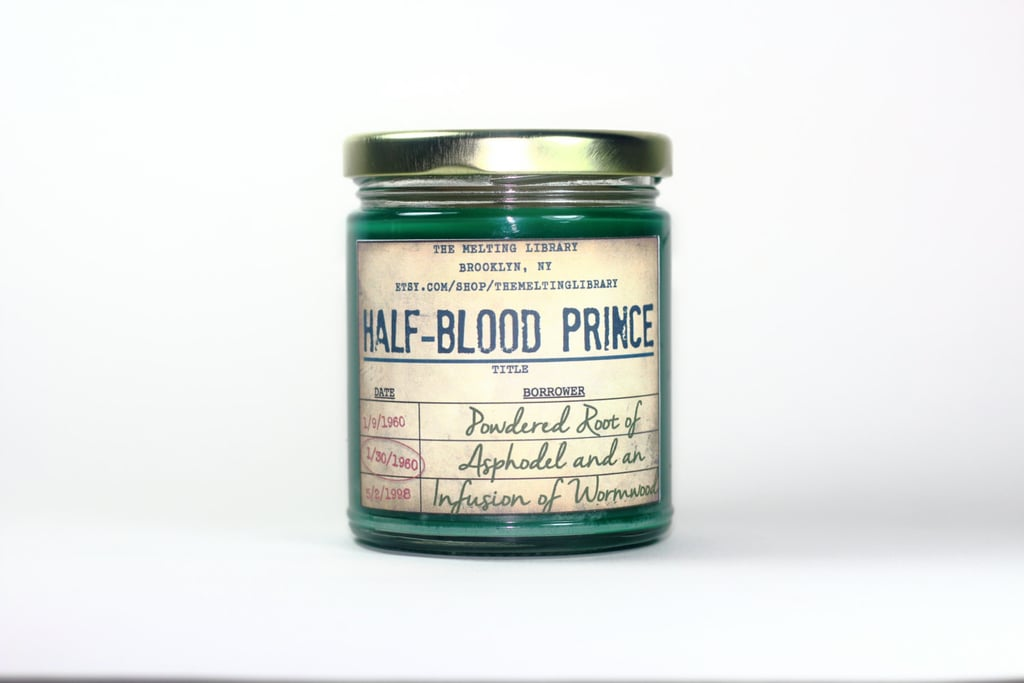 Half-Blood Prince candle ($12) with lily and absinthe notes