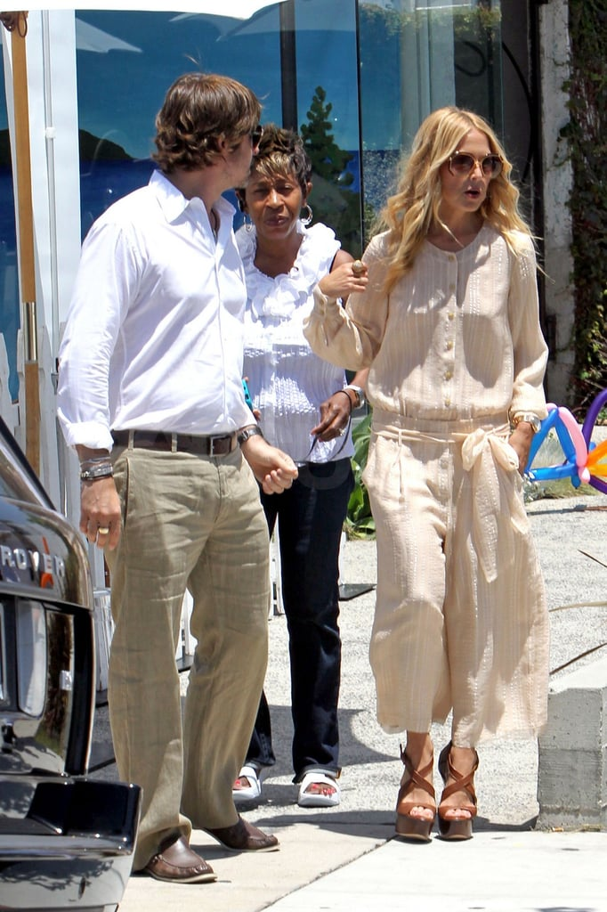 Rachel Zoe and Rodger Berman stopped by Jenni Kayne in Beverly Hills.