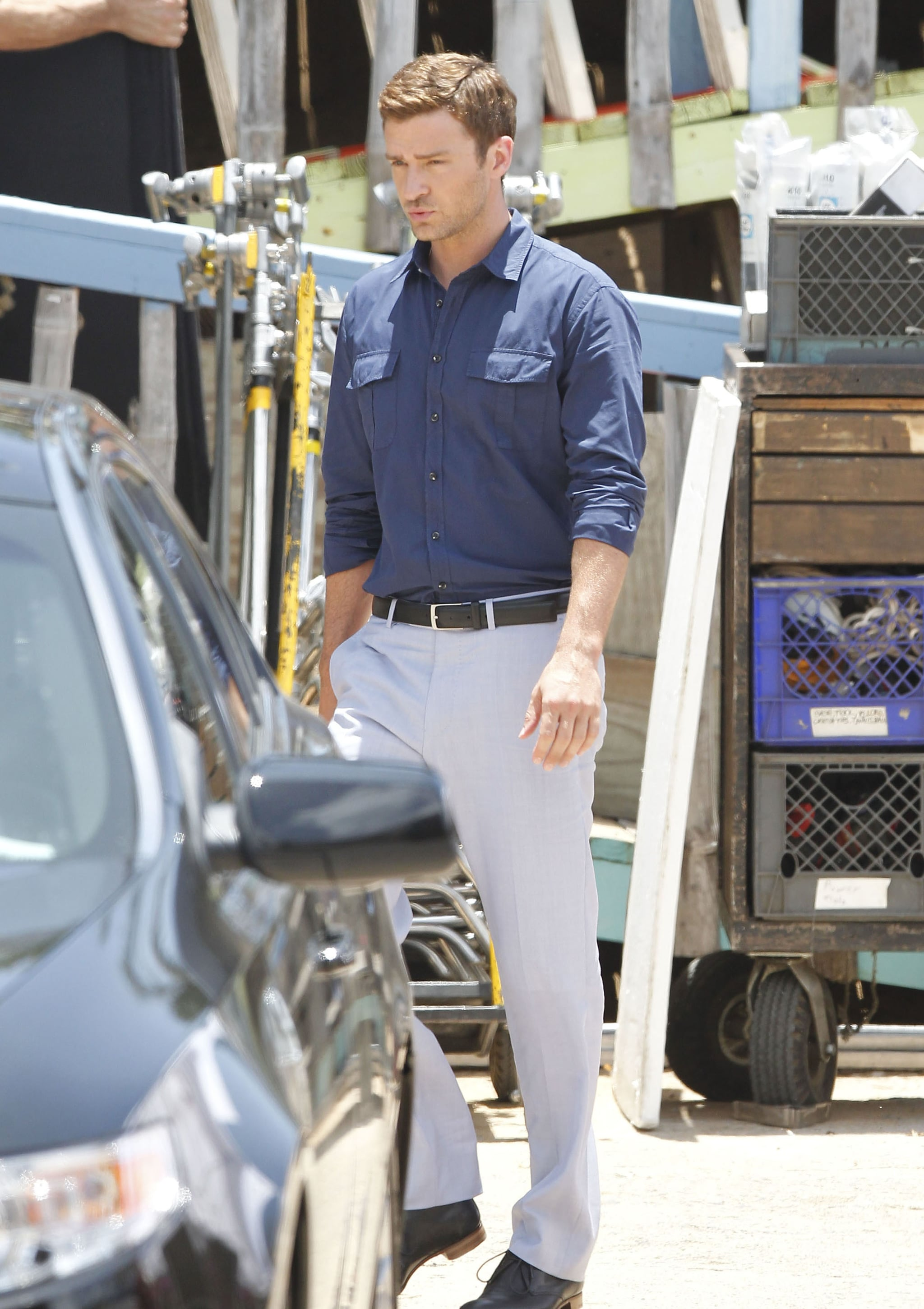 Justin Timberlake looked good on the set of Runner, Runner in Puerto Rico.