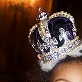 Blue rocked a crown.  Source: Beyoncé on Tumblr