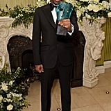 Micheal Ward at the British Vogue and Tiffany & Co. Fashion and Film Party