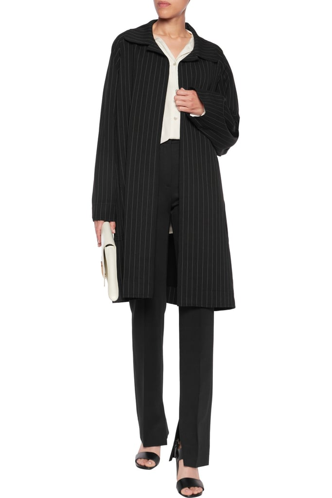 Norma Kamali Pinstriped Coat