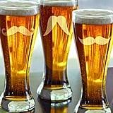 Mustache Pilsner Glasses