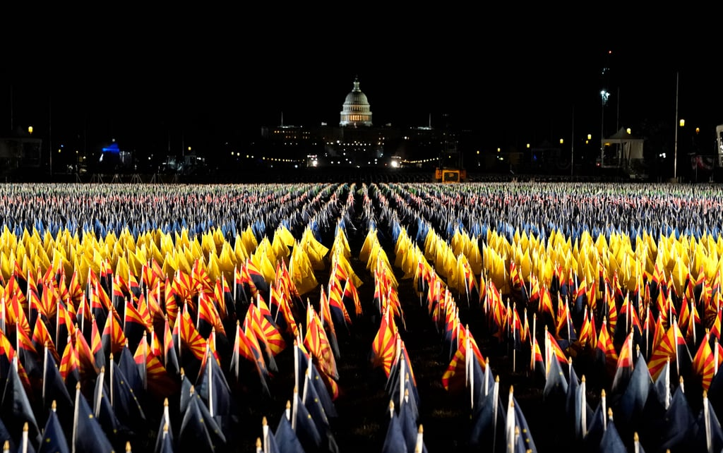 The Meaning of the Field of Flags at the Biden Inauguration