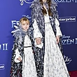 Gracie Teefey and Selena Gomez at the Frozen 2 Premiere in Los Angeles