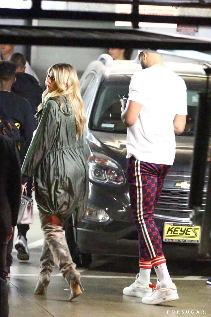 Khloé Kardashian and Tristan Thompson at LA Nightclub 2018