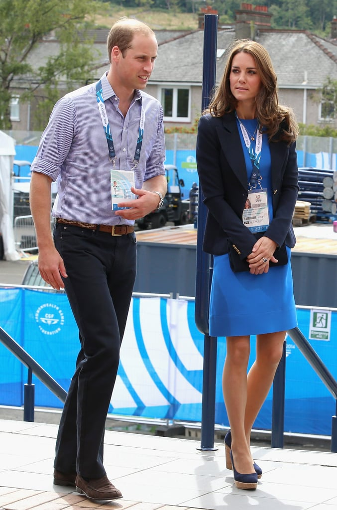 Will and Kate arrived at the Commonwealth Games on Tuesday.