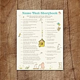 Name That Storybook Printable Baby Shower Game
