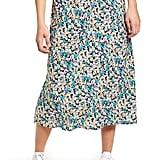 Love, Fire Print Midi Skirt