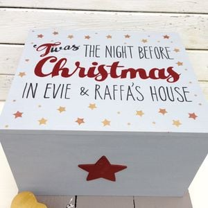 Potting Shed Designs Personalised Family Heirloom Christmas Eve Chest