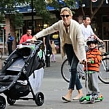 Karolina Kurkova and Tobin: Baby Jogger City Mini