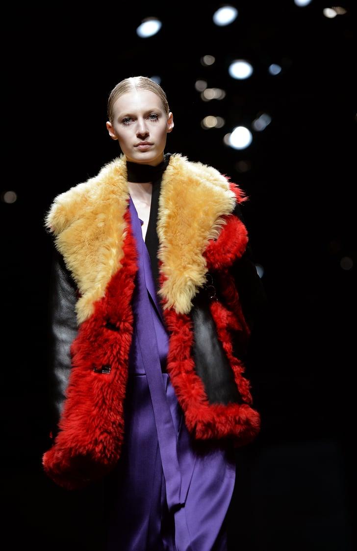 According to Prada, Clumpy Mascara Is Cool