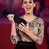 Katy Perry accepted an award at the MuchMusic Video Awards in Toronto.