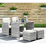 Abdiel 5 Piece Dining Set with Cushions